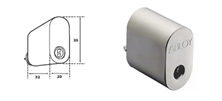 Mynd ABLOY Sylinder Króm Protec fyrir ASSA Láshús 2 stk eins